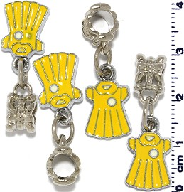 4pcs Yellow Charm BD554
