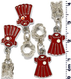 4pcs Red Charm BD555