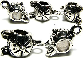 5pc Charm Cat Silver BD560 - Click Image to Close