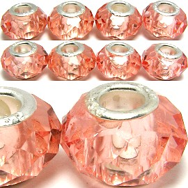 8pcs Crystal Beads Peach BD628