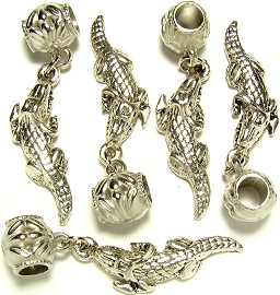 5pc Charms Gator Silver BD643