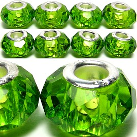 8pcs Crystal Beads Green Light BD647