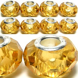 8pcs Crystal Beads Yellow BD648