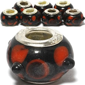 Beads 8pcs Black Red BD706