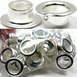 1pk - 48pcs Grommet, Silver Caps for Beads BD774