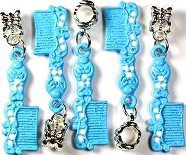 5pc Charm Hair Comb Blue BD827