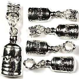 5pc Charm Alcohol Bottle Silver BD863