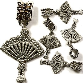 Beads 5pcs Charms Pack Fan Gray BD890