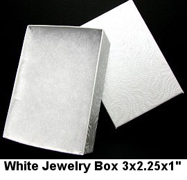 100pc White Jewelry Box BX24 DBX2832w