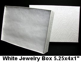 100pc White Jewelry Box BX27 DBX2853w