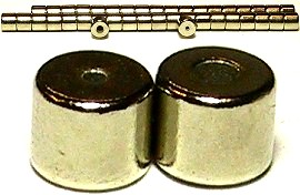 Silver Strong Magnetic End Connectors 5x5mm 20 Pair CP1s
