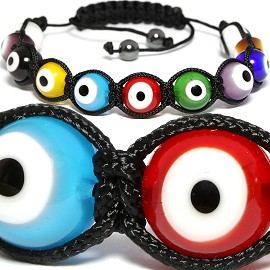 Shamballa Glass Dot Bracelet 10mm Multi Color CX105