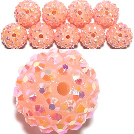 10pc 16mm W/2mm Hole Disc Bead Spacer Peach CX174