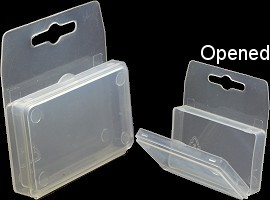 4pc Clear Plastic Hanger Small Jewelry Holder Box Ds01