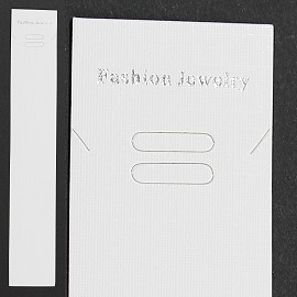 "50pc 8.25x1.375"" Display Hanger W/Bag for Jewelry, White Ds02"