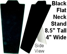 "Black Flat Neck Stand 8.5"" Inches Ds100"