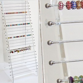 "Bead Charm 24Pcs Bar 30x12x10""Inches Clear Ds117"