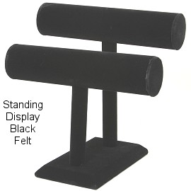 "6""x 5"" Black Velvet 2 Bar Stand Dispaly Ds162"