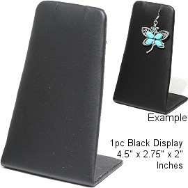 "1pc Display Stand Bendable Flat Black Leather Medium 4.5"" Ds202"
