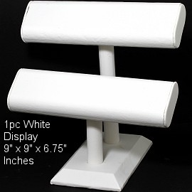 "1pc Display Stand 2 Bars For Bracelets White 9"" Tall Ds225"