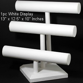 "1pc Display Stand 3 Bars For Bracelets White 13"" Tall Ds228"