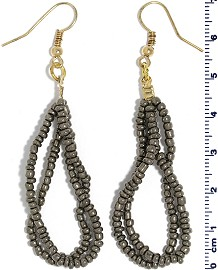 Seed Beads Earring Gray EB101