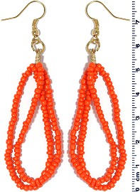 Seed Beads Earring Orange EB102
