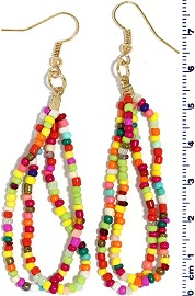 Seed Beads Earring Multi EB106