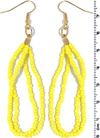 Seed Beads Earring Yellow EB107
