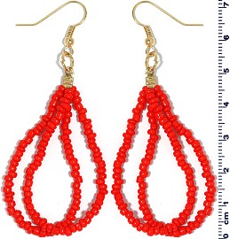 Seed Beads Earring Red EB108