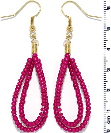 Seed Beads Earring Hot Pink EB111