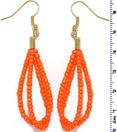 Seed Beads Earring Orange EB112