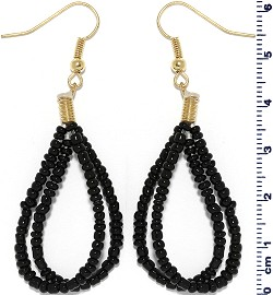 Seed Beads Earring Black EB114