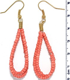 Seed Beads Earring Peach EB116