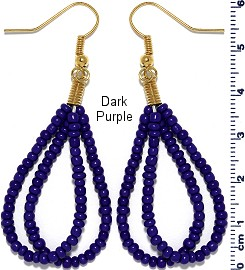 Seed Beads Earring Blue EB118