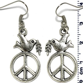 Dove of Peace Silver Earring GER575
