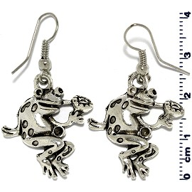 Silver Frog Earring GER583