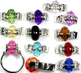 12pcs Random Bead Ring Pack Attachable Ring Gem10