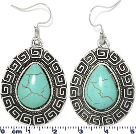 Turquoise Earring Tear Drop Ger1745