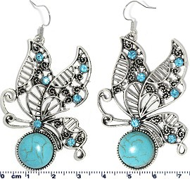 Turquoise Earring Butterfly Ger1748