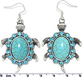 Turquoise Earring Turtle Ger1749