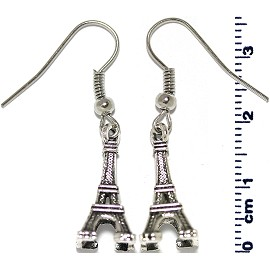 Earring Silver Eiffel Tower Ger2095