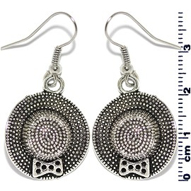 Earring Silver Lady Hat Ger2100