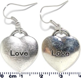 Earring Love Heart Silver Ger2112