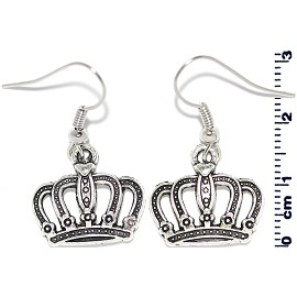 Earring Silver Crown Ger2115