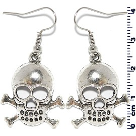 Earring Silver Skull and Bone Ger2122