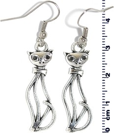 Earring Silver Cat Ger2124