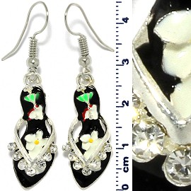 Shell Crystal Earrings Green Ger511