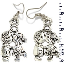 Kissing Silver Earring Ger515