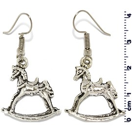 Horse Silver Earring GER546